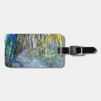 Spring scene luggage tag