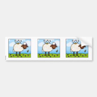 spring sheep scrapbook sticker car bumper sticker