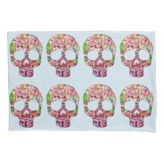 Spring skull pillowcase