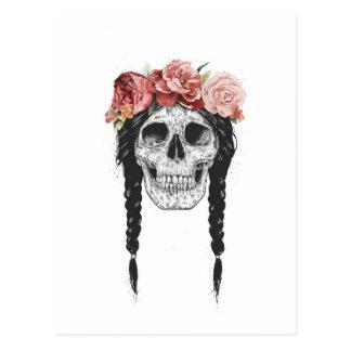 Spring skull postcard