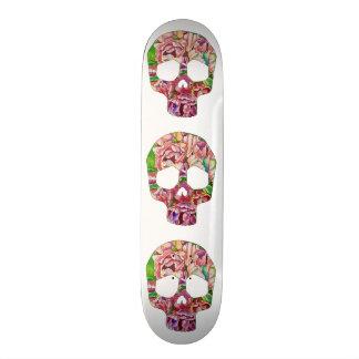 Spring skull skateboard deck
