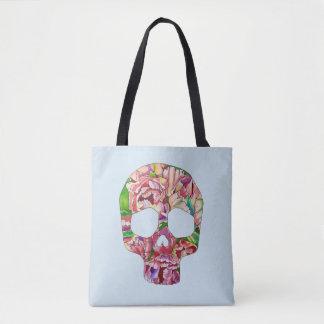 Spring skull tote bag