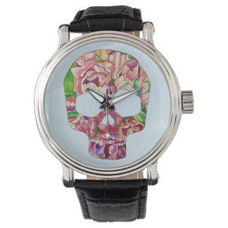 Spring skull watch