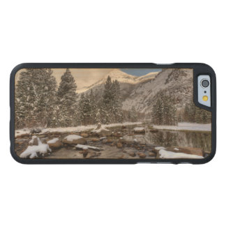 Spring snow, Sierra Nevada, CA Carved Maple iPhone 6 Case