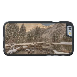 Spring snow, Sierra Nevada, CA Carved® Maple iPhone 6 Slim Case