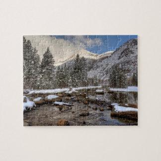 Spring snow, Sierra Nevada, CA Jigsaw Puzzle