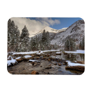 Spring snow, Sierra Nevada, CA Magnet