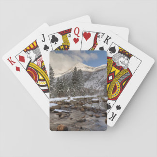 Spring snow, Sierra Nevada, CA Poker Deck