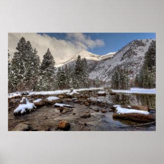 Spring snow, Sierra Nevada, CA Poster