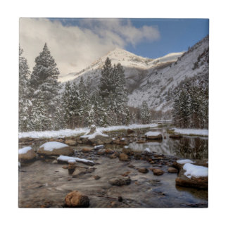 Spring snow, Sierra Nevada, CA Tile