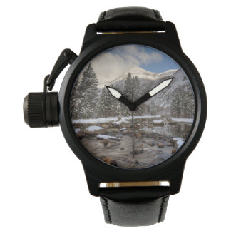 Spring snow, Sierra Nevada, CA Wrist Watches