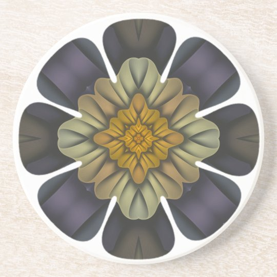 Spring Somewhere Abstract Floral Coaster