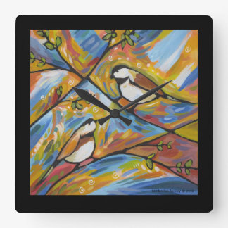 Spring Song Square Wall Clock