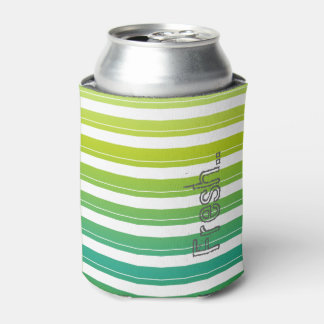 Spring Stripes Can Cooler