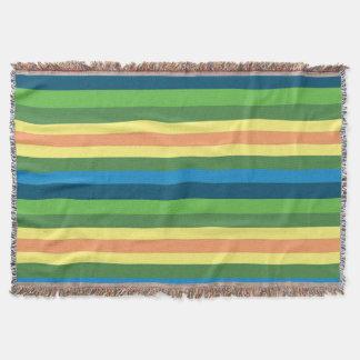 Spring Stripes Colorful  Blanket
