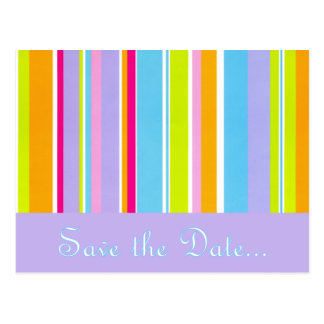 Spring Stripes Save the Date Postcard
