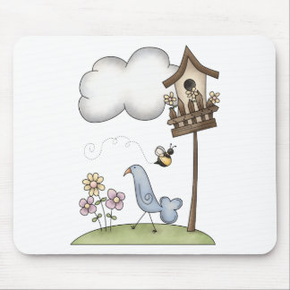 Spring Stuff · Birdhouse & Bird Mouse Pad