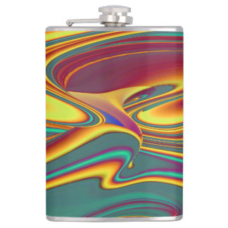 Spring Summer Autumn Flowers Magic Hip Flask