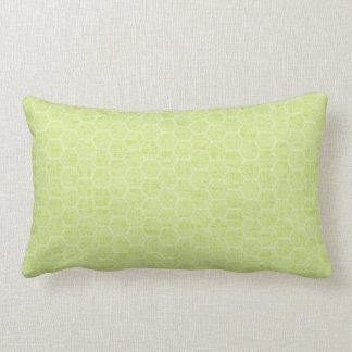 Spring & Summer Bright Green Beehive Lumbar Pillow