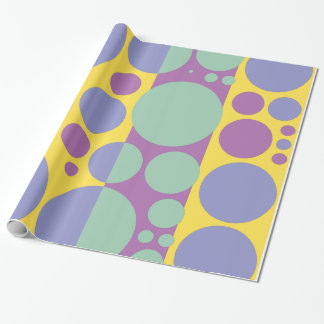 Spring, summer colors pop art circles 2 wrapping paper