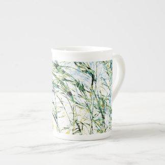 Spring summer nature flower sprout design art tea cup