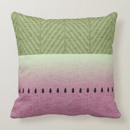 Spring & Summer Quirky Watermelon Throw Pillow