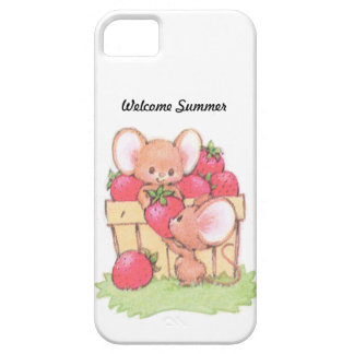 Spring Summer Strawberry Workshop Mice iPhone 5 Cover