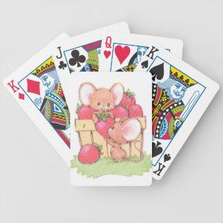 Spring Summer Strawberry Workshop Mice Poker Deck