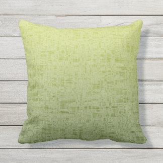 Spring & Summer Watermelon Green to Yellow Patio Outdoor Pillow