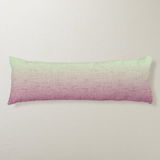 Spring & Summer Watermelon Pink to Green Body Pillow