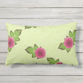 Spring & Summer Watermelon Roses Patio Outdoor Pillow