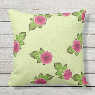 Spring & Summer Watermelon Roses Patio Throw Pillow