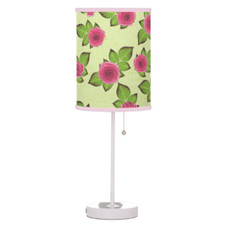 Spring & Summer Watermelon Roses Table Lamp