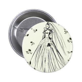 Spring Summer Wedding Pinback Buttons