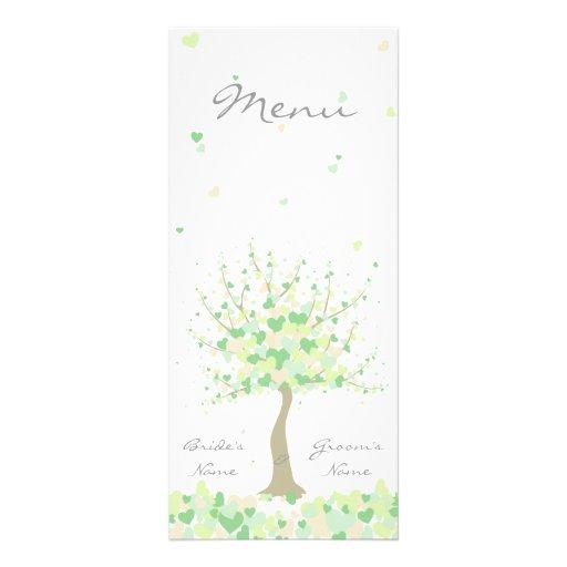 Spring/Summer Wedding - Menu Personalised Rack Card