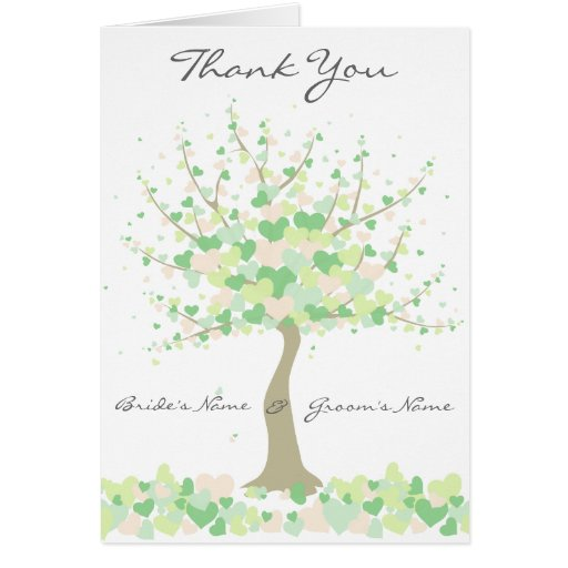 Spring/Summer Wedding  - Thank You Note Card