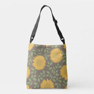 Spring Sunflower Pattern Crossbody Bag