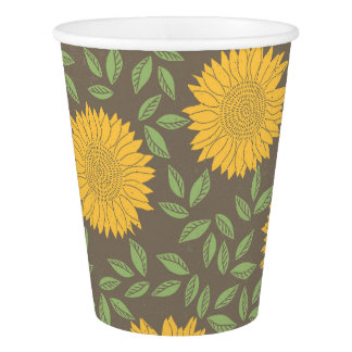 Spring Sunflower Pattern Paper Cup