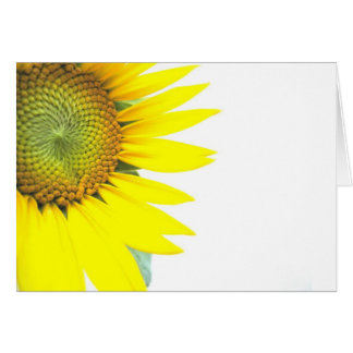 Spring sunflowers card