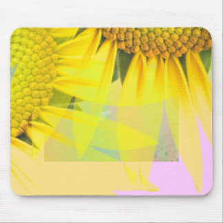 Spring sunflowers mouse pad