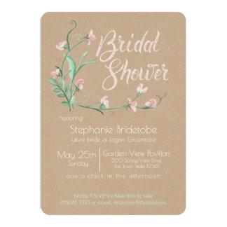 Spring Sweet Peas Watercolor Bridal Shower Card