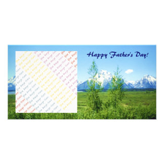 Spring Tetons Father s Day Photo Card Template