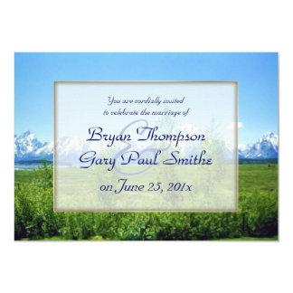 Spring Tetons WEDDING Card