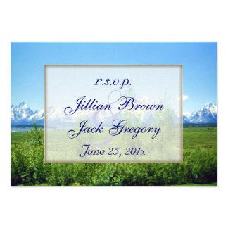 Spring Tetons Wedding RSVP Custom Announcement