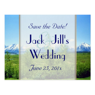Spring Tetons WEDDING Save The Date Postcard
