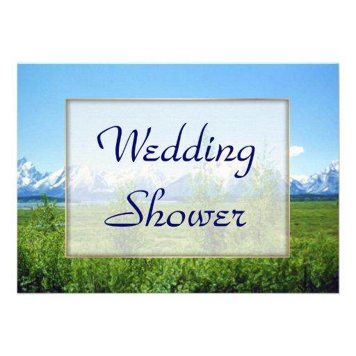 Spring Tetons WEDDING Shower Personalized Invitation