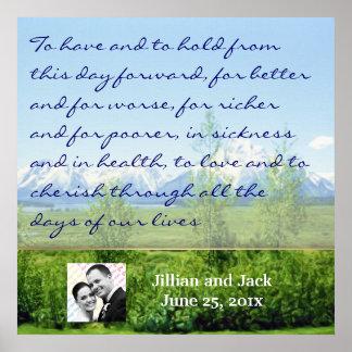 Spring Tetons WEDDING Vows Display Poster