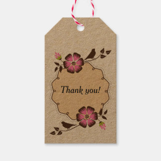 Spring Thank You Label with Frame Pack Of Gift Tags