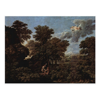 Spring (The Earthly Paradise) by Nicolas Poussin Postcard