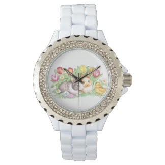 Spring Theme Bunnies Easter Watch